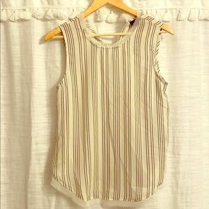 Sleeveless stripped blouse